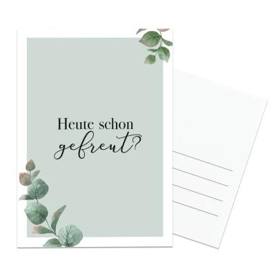 Postkarte Lieblingsmensch - Heute schon gefreut?