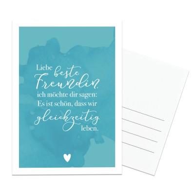 Lieblingsmensch Postkarte - Liebe beste Freundin