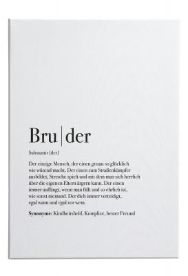 Bruder Dudeneintrag - Leinwandbild Lieblingsmensch