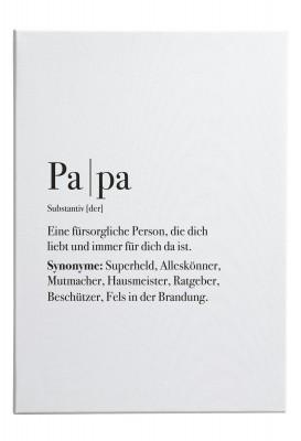 """Papa - Leinwand Wandbild mit dem Motiv """"Papa"""" - im Lieblingsmensch Shop"""