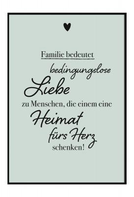 Familie bedeutet - Poster von Lieblingsmensch