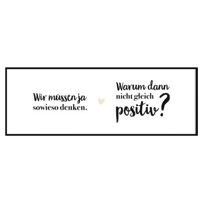 Panoramaposter - Positives Denken