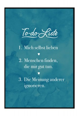 Lieblingsmensch Poster - To Do Liste