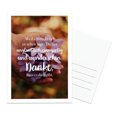 Danke - Postkarte