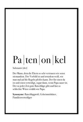 Patenonkel Poster - Im Lieblingsmensch Shop - Geschenke für die Familie