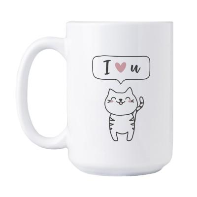I love u - Süße Tasse