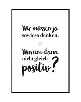 Poster Lieblingsmensch - Positives Denken