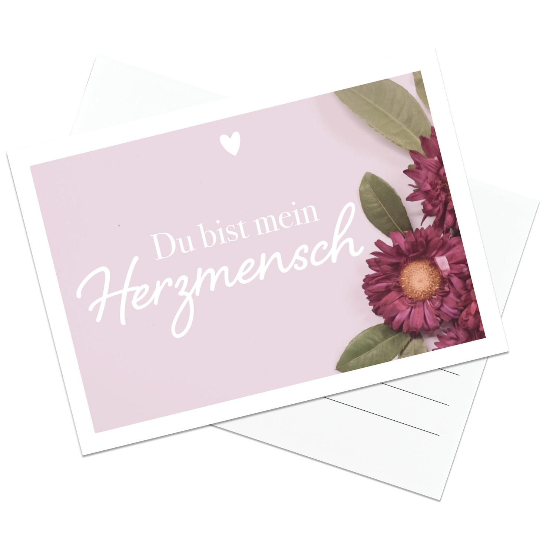 Postkarte Du bist mein Herzmensch   Im LIEBLINGSMENSCH