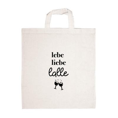 Stofftragetasche Liebe lebe lalle - witzige Einkaufstasche