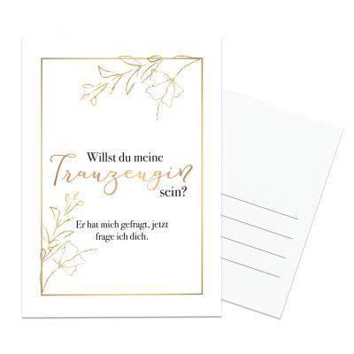 Postkarte - Willst du meine Trauzeugin sein
