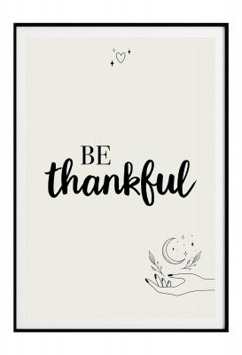 "Poster - Lieblingsmensch ""Be Thankful"""
