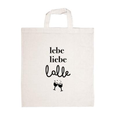 """Jutetasche - Stofftasche von VS"""" - Liebe, lebe, lalle"""