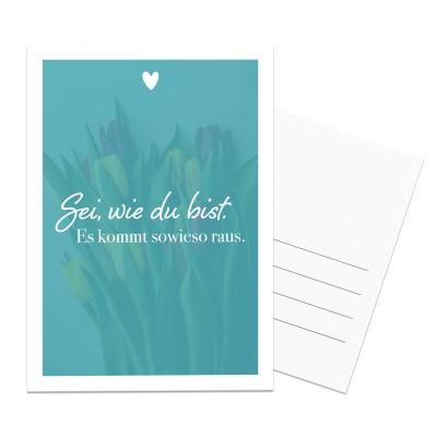 Postkarte Lieblingsmensch - Sei wie du bist