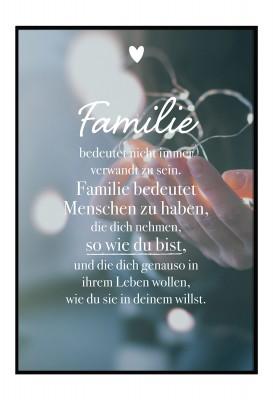 Familie - Poster von Lieblingsmensch