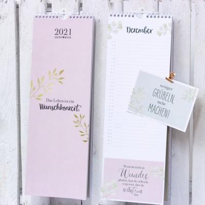 Postkartenkalender 2021 - Visual Statements Shop - Kalender mir Postkarten zum Abreißen