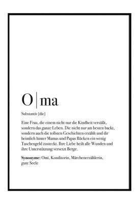 Oma Poster - Im Lieblingsmensch Shop - Geschenke für die Familie