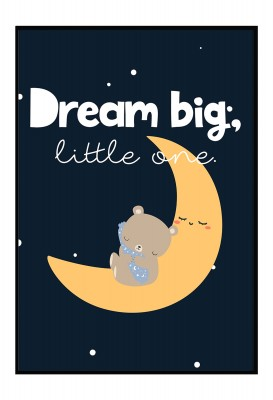 personalisiertes Poster - Dream Big little one