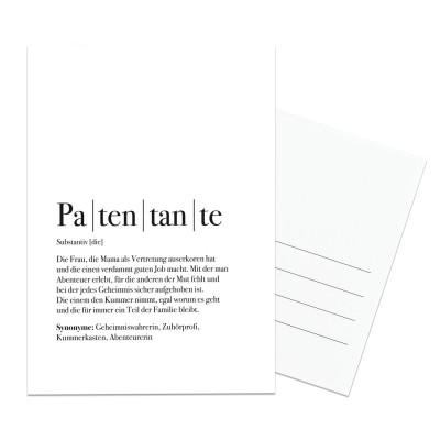 Patentante Postkarte - Geschenk für die Patentante - im Lieblingsmensch Shop