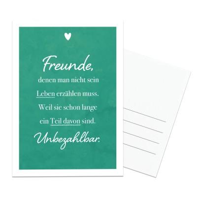 Postkarte Lieblingsmensch - Freunde