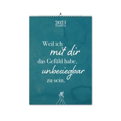 Liebe - Monatswandkalender 2021 - von Lieblingsmensch
