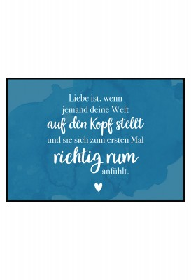 Liebe ist,... - Poster von Lieblingsmensch