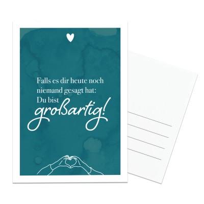Großartig - Hochglanz Postkarte von Lieblingsmensch
