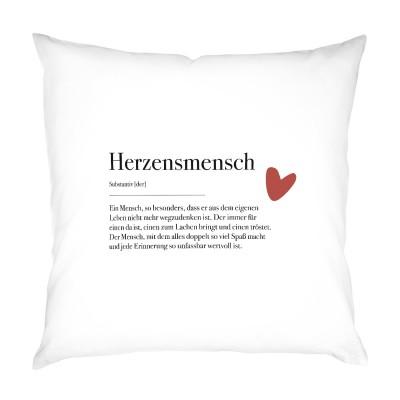 Herzensmensch - Kissen 40x40cm im Lieblingsmensch Shop