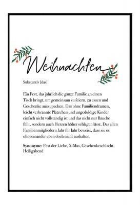 Definition Weihnachten - Poster Lieblingsmensch