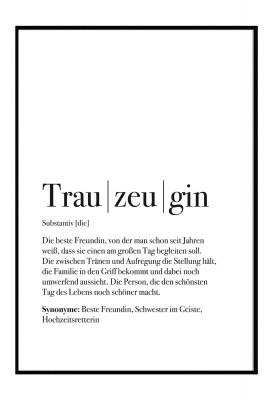 Trauzeugin Dudeneintrag- Lieblingsmensch Poster