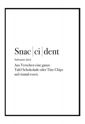 Snaccident - Poster