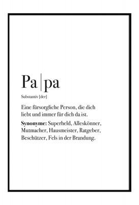 Definition Papa - Poster - Geschenk für deinen Papa - im Lieblingsmensch Shop