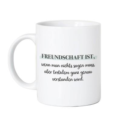 Tasse Vorderseite - Freundschaft ist