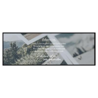 Lieblingsmensch Panoramaposter - Zuhause ist...,