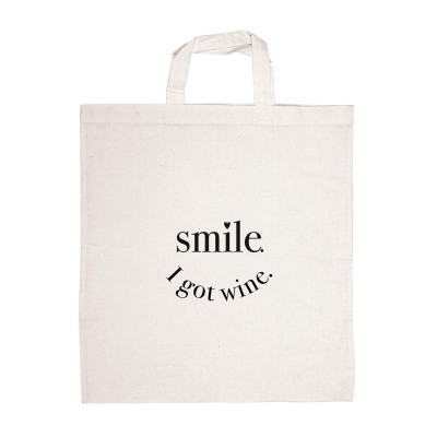 Stofftasche smile i got wine