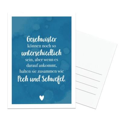 Postkarte für Geschwister - Postkarte im Lieblingsmensch Shop