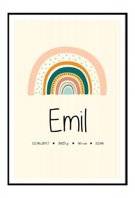 personalisierbares Poster zur Geburt