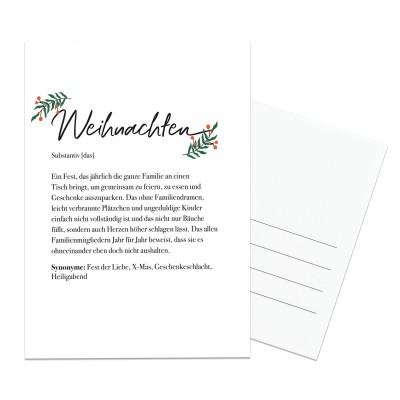 Dudeneintrag Weihnachten - Postkarte Lieblingsmensch