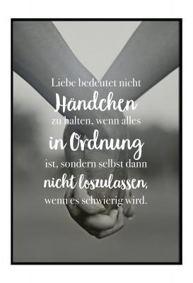 Liebe bedeutet - Poster von Lieblingsmensch