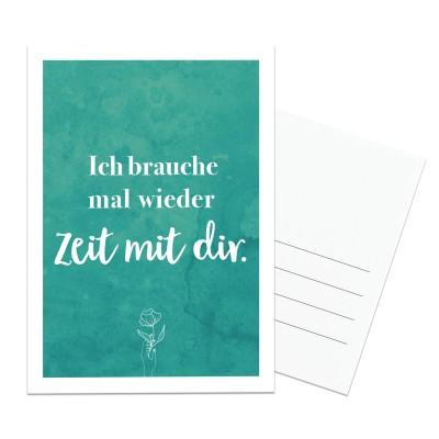 Postkarte Lieblingsmensch - Ich brauche mal wieder Zeit mit dir