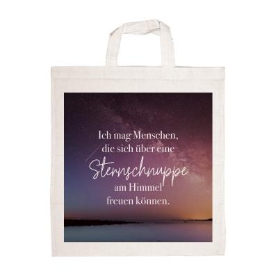 Ich mag Menschen, die sich über eine Sternschnuppe am Himmel freuen können - Stofftasche von Lieblingsmensch