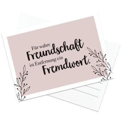 Für wahre Freundschaft ist Entfernung ein Fremdwort - Postkarte Lieblingsmensch