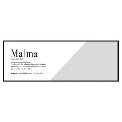 Panoramaposter Lieblingsmensch - Mama