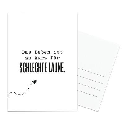 Das Leben ist zu kurz - Postkarte