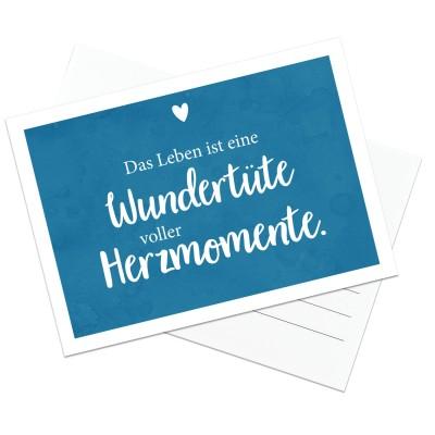 Lieblingsmensch Postkarte - Das Leben ist eine Wundertüte voller Herzmomente.