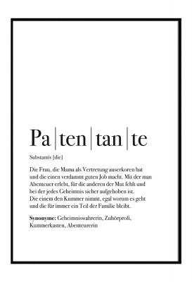Patentante Poster - Im Lieblingsmensch Shop - Geschenke für die Familie