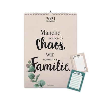 Familienplaner 2021mit 5 Spalten - Familienkalender 2021 von Lieblingsmensch im A3 Format