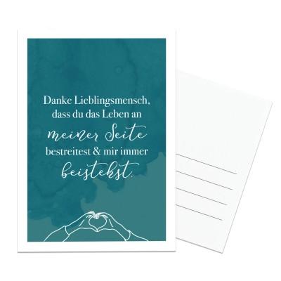 Lieblingsmensch Postkarte - Danke Lieblingsmensch