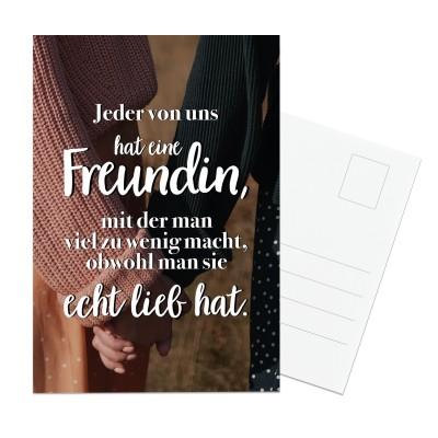Jeder von uns hat eine Freundin - Postkarte Lieblingsmensch