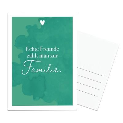 Echte Freunde - Postkarte von Lieblingsmensch