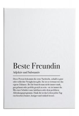 Wandbild Lieblingsmensch - Motiv: Beste Freundin
